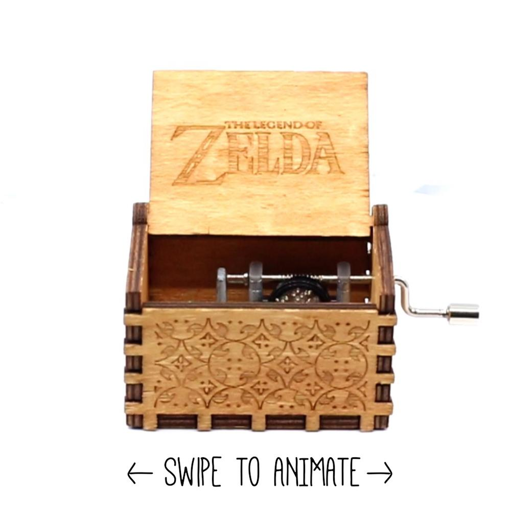 Legend of Zelda Link Music Box Chest - Song Of Storms