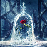 Beauty and the Beast- Rose in a Glass