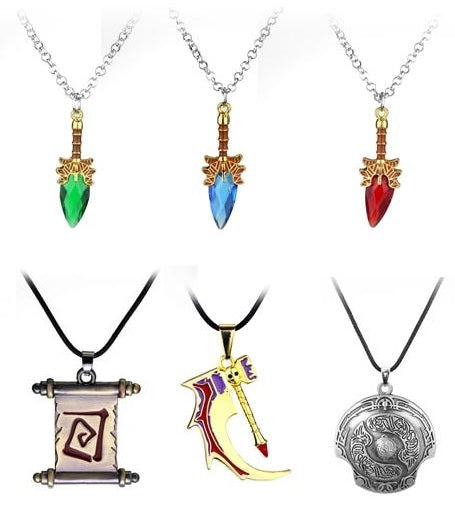 Collectible DOTA 2 Gamer Identity Necklace