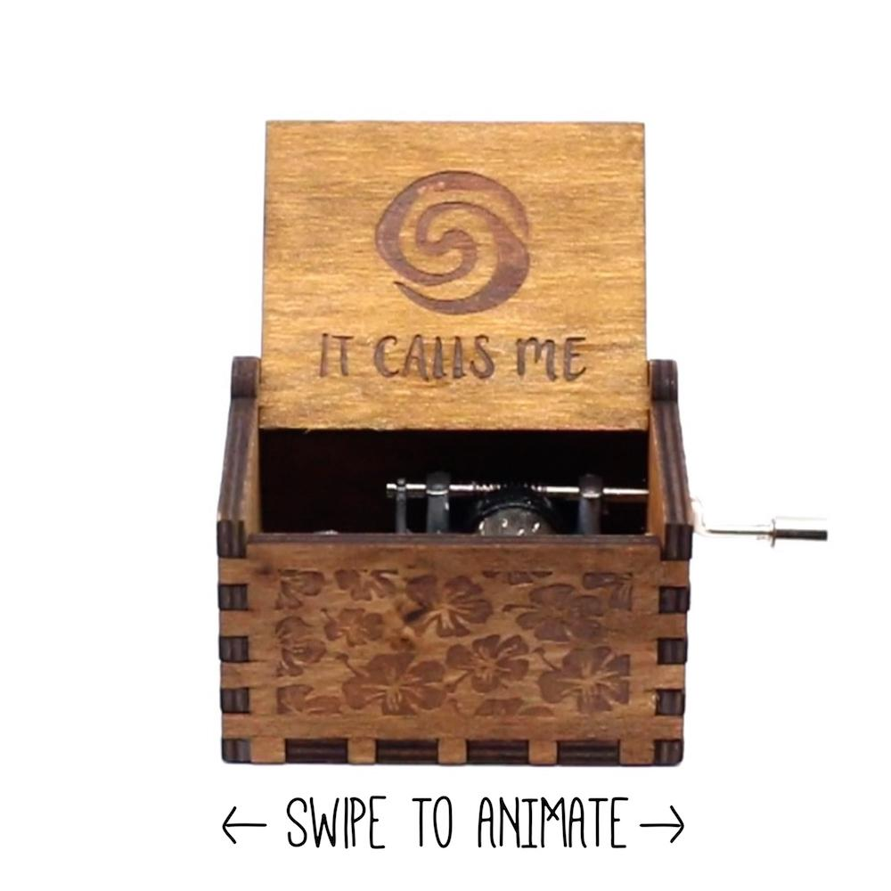 "Moana Disney ""It Calls Me"" Sound Track Music Box Chest"