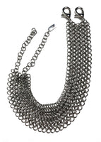 handmade stainless steel chainmaille choker made in Detroit MI by oringal designer SKNDLSS