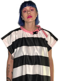 Striped Satin Shift