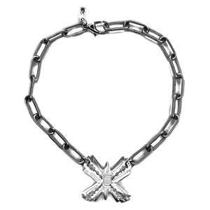 razorblades stainless steel necklace hard goth alternative igirl