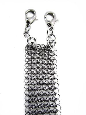 détroit designer chainmaille choker  unique jewelry design independent detroit is the new black  fashionable punk goth
