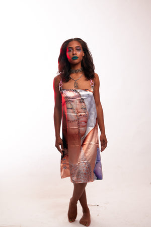 Silk Pop-Up Dress