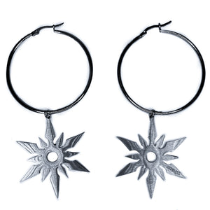 THROWING STAR HOOPS
