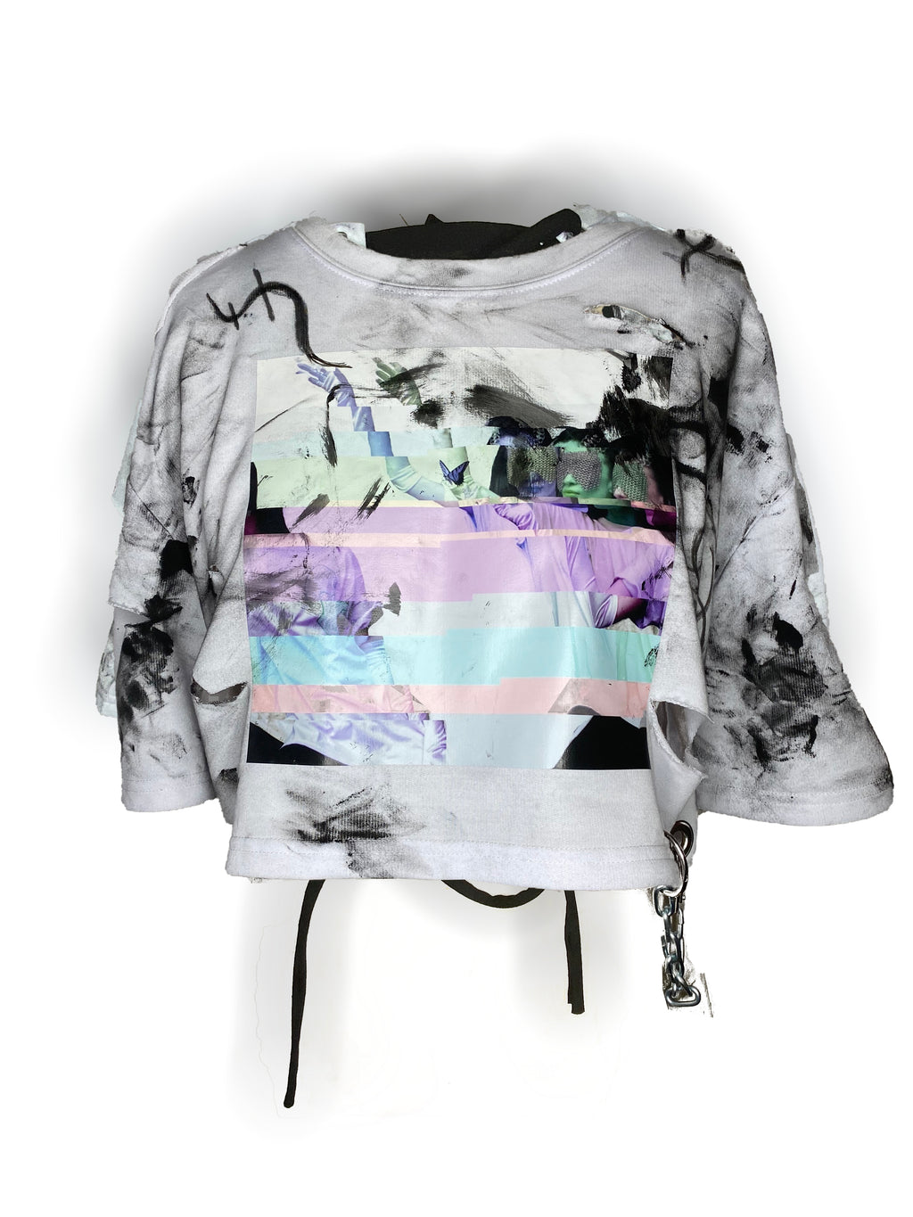 Ripped and Sliced Glitch Tee