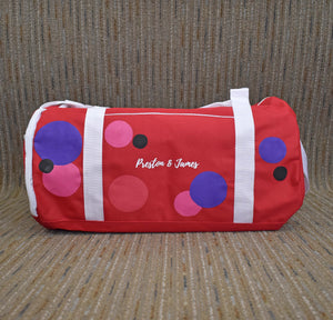 Dots Duffle/Travel Bag Set