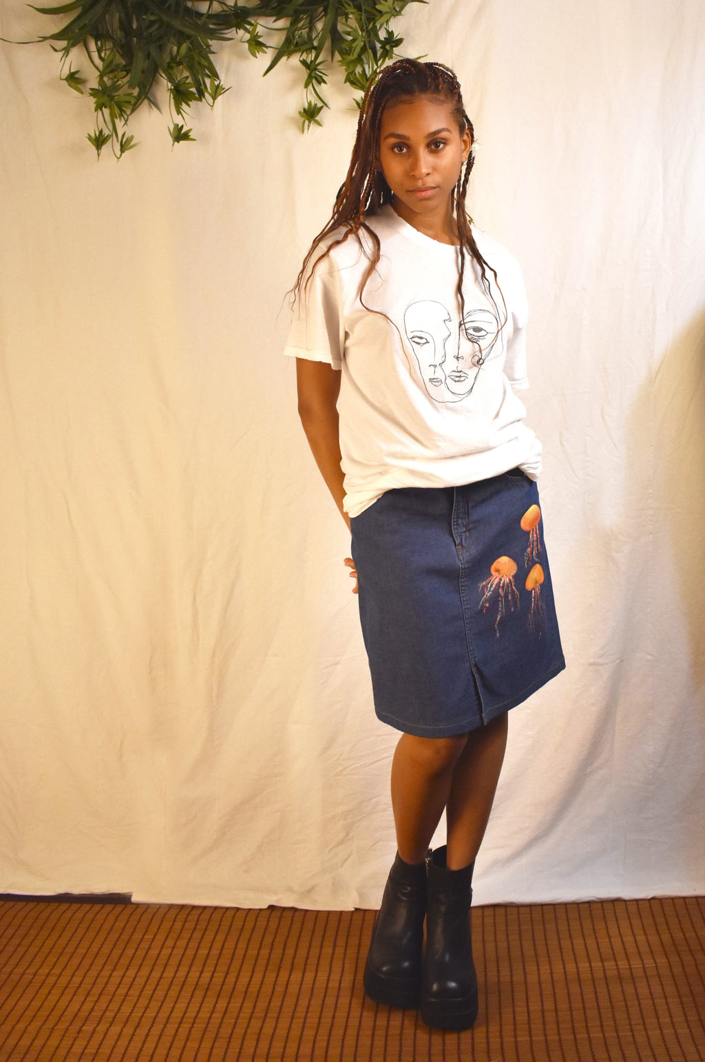 Jelly Denim Skirt