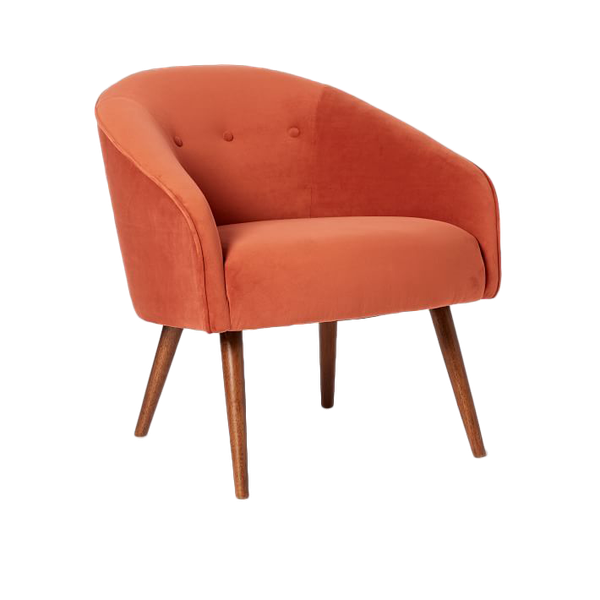 Eve Buttoned chair- Orange West Elm