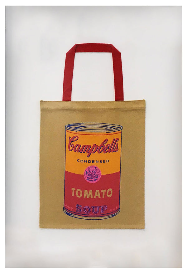 Warhol bag with campbells soup
