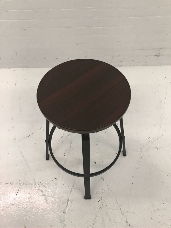 4 Dark Wood Stools