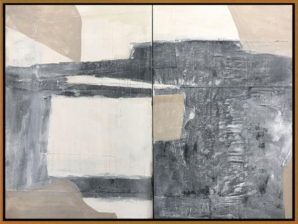 Simple Diptych Variation with Brown