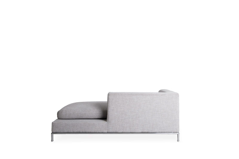 Simena Chaise- Tweed Grey