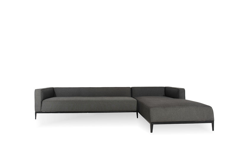California Sectional and chaise lounge , Black Pepper/Black Legs