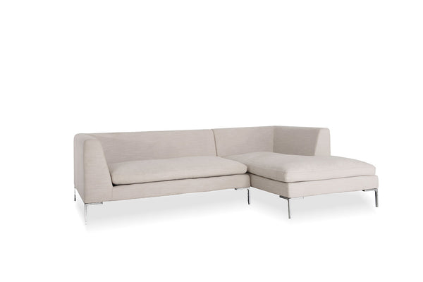 Alison Sectional and chaise lounge Almond