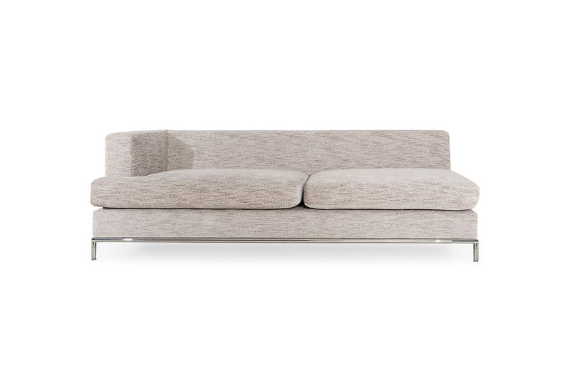 California Sectional and LAF chaise lounge , Grotto Oyster/Chrome base