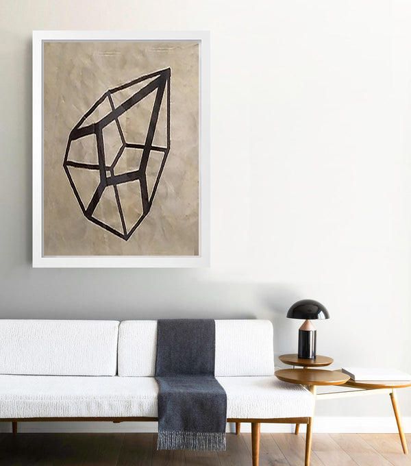 Geometric Shape on Gold