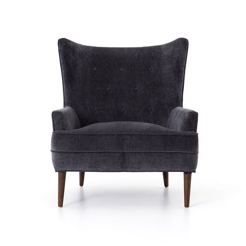 Clermont Chair - Charcoal Worn Velvet