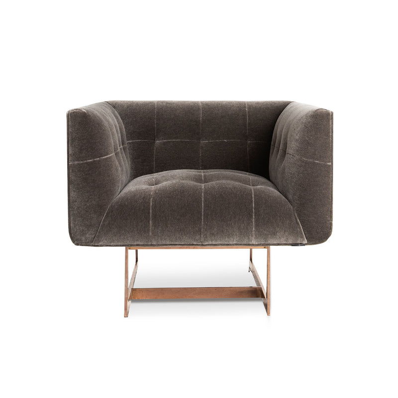 Matisse Armchair (R)- Pewter Mohair