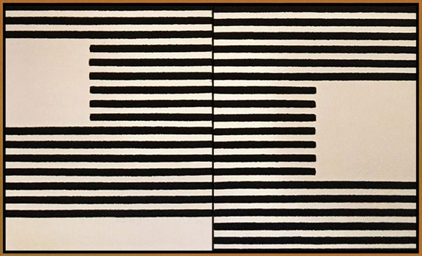 Minimal Stripes Diptych