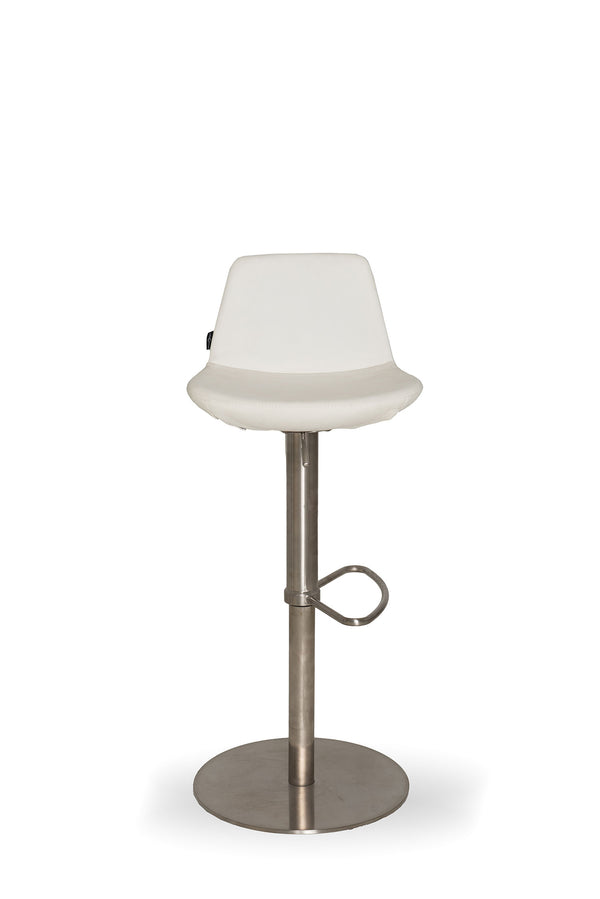 White Leather Stool