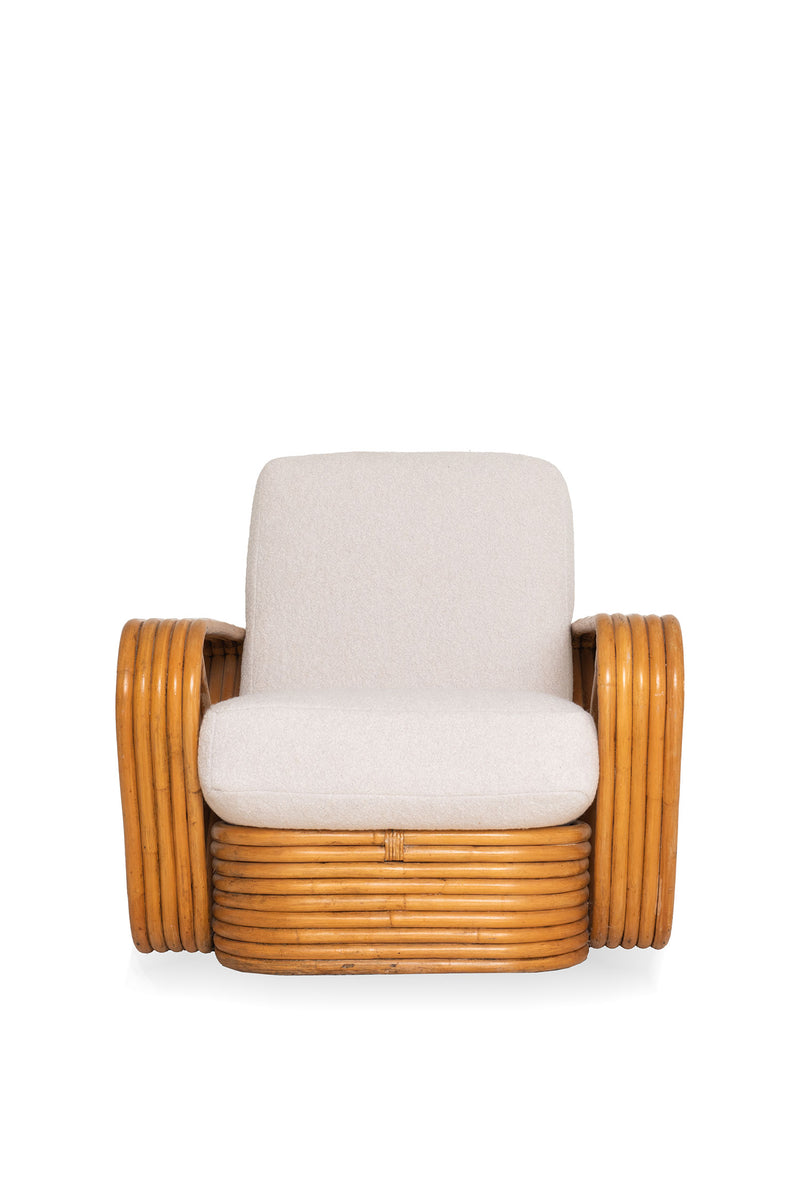 Vintage Bamboo Armchair (R)- Boucle