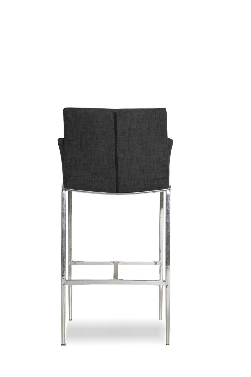 Dark Grey Fabric Stool