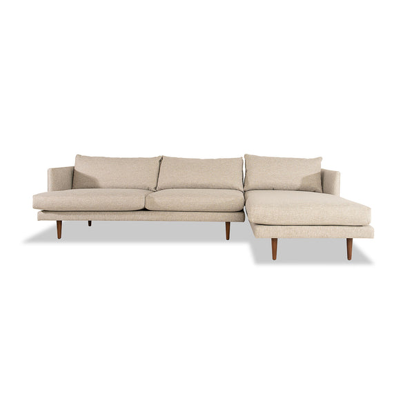 Burrard Sectional and RAF chaise lounge
