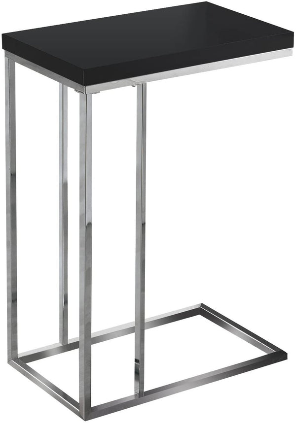 Monarch C Side- Black/Chrome side table