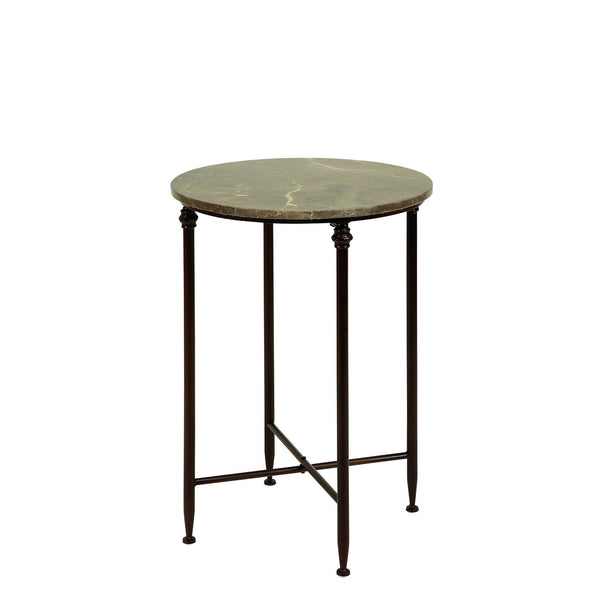 Benzara High- Marble Brown side table