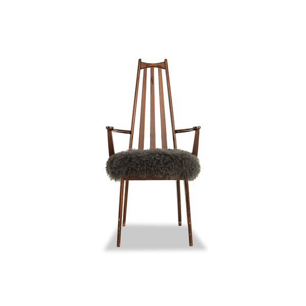 Cathedral Mongolian chair - Dark Grey