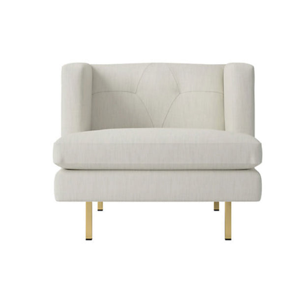 Avec Lounge chair- Como Snow/Brass cb2