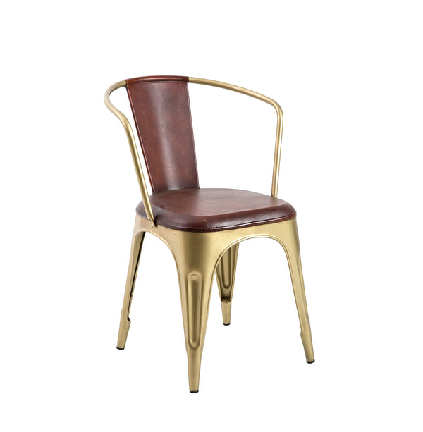 Cigar bar chair brown leather