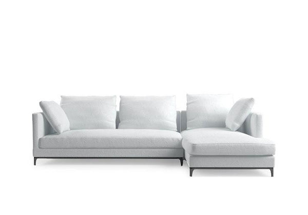Crescent LAF Sofa Sectional & Chaise lounge - White