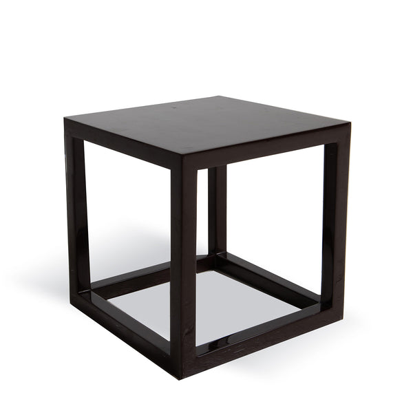 NEW: Cube Side Table- Brown