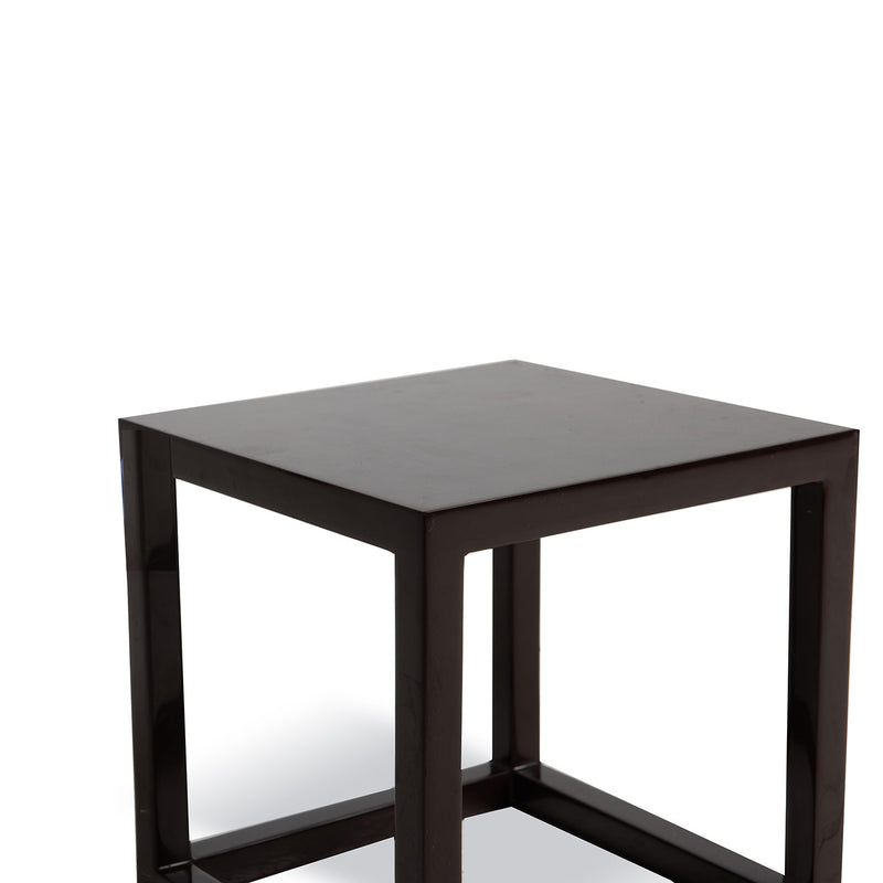 Cube Side Table- Brown