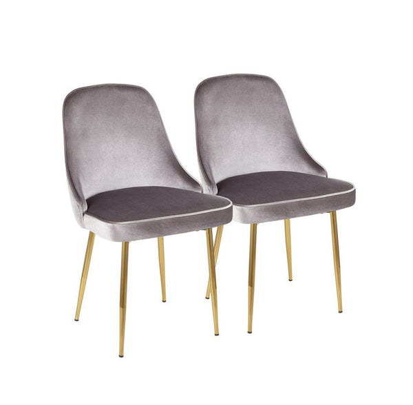 Marcel Silver & Gold Chairs (set of 2)