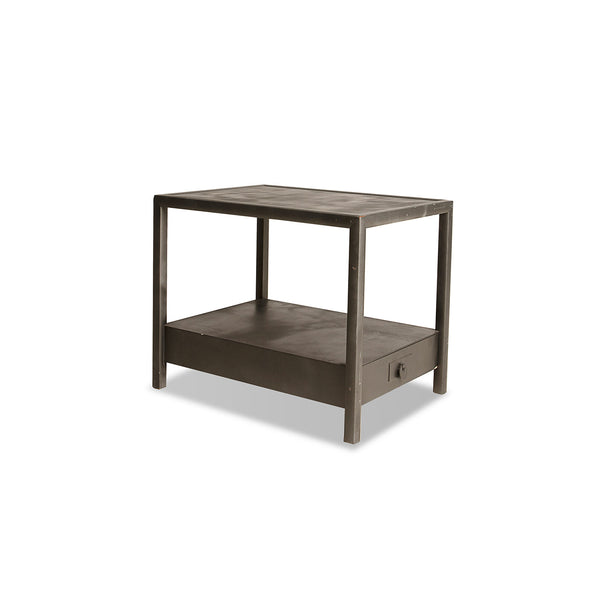 NEW: Bottom 1 Drawer side table grey