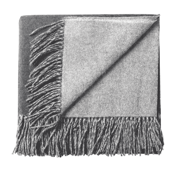 Alpaca Woven Throw - Charcoal