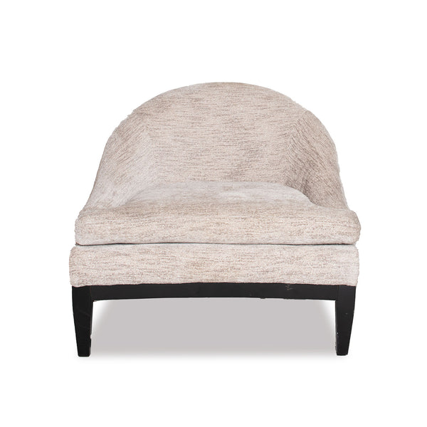 Half Moon chair- Salt & Pepper