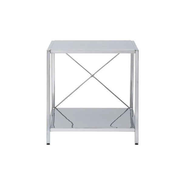Harvey X- Chrome side table