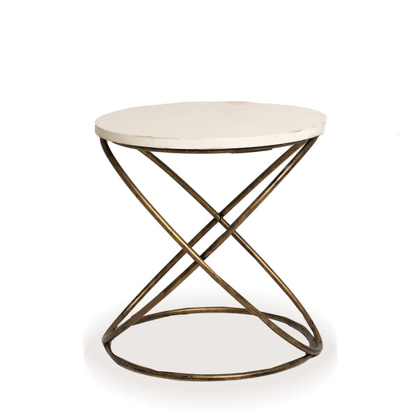NEW: Wire Interlocking side table-White