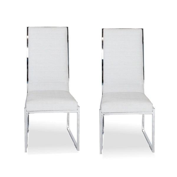 High Back chair- Jackson90 Grey (set of 2)