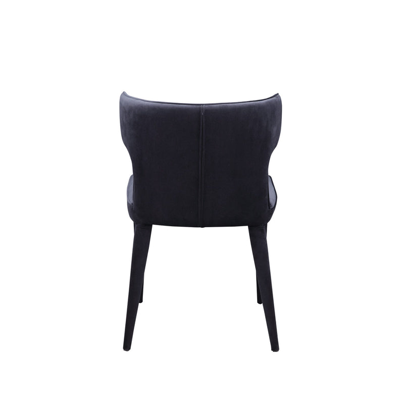 Jennaya Velvet chairs- Black (set of 2)