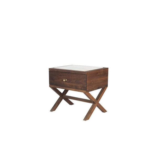 Kors- Walnut/Marble nightstand