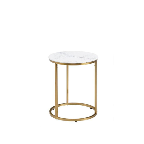 Round White Marble Milan Accent and side Table