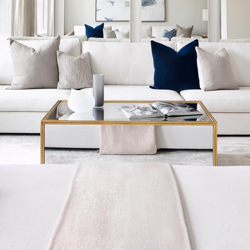 luxurious coffee table in white living room