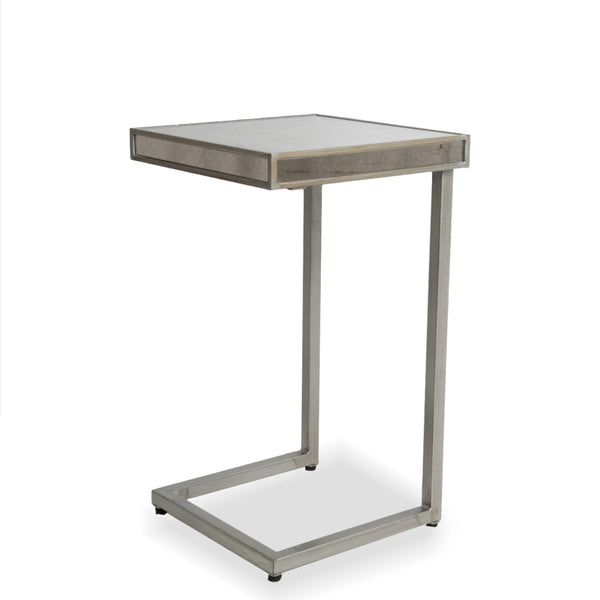 Mirrored Chrome C Side Table- Silver