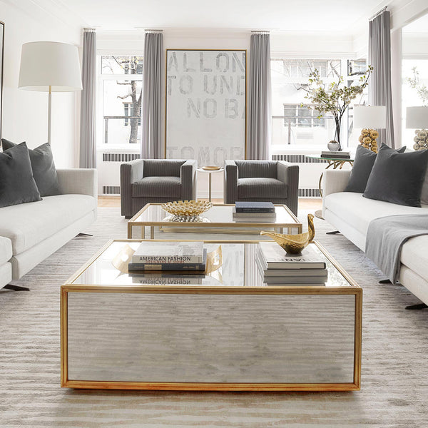 Stylish mirrored coffee table